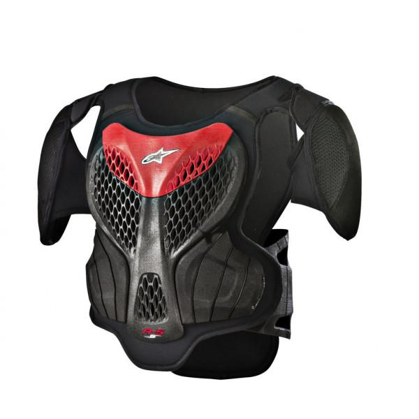 Pettorina protettiva bambino Alpinestars A-5 S nero grigio rosso
