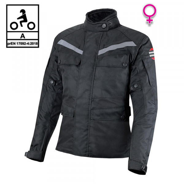 Giacca moto donna touring Befast ROCKET Lady CE Certificata 3 strati Nero