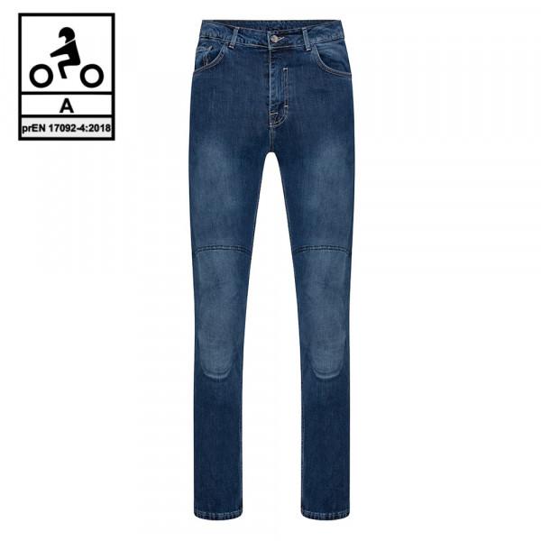 Jeans moto Carburo TORIN CE Certificati con fibra aramidica Blu Chiaro