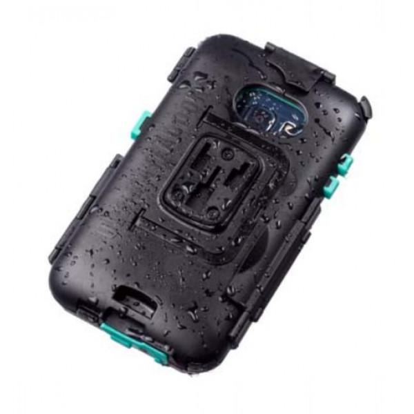 Porta Smartphone Midland per Galaxy S7E con sistema di aggancio per manubri tubolari