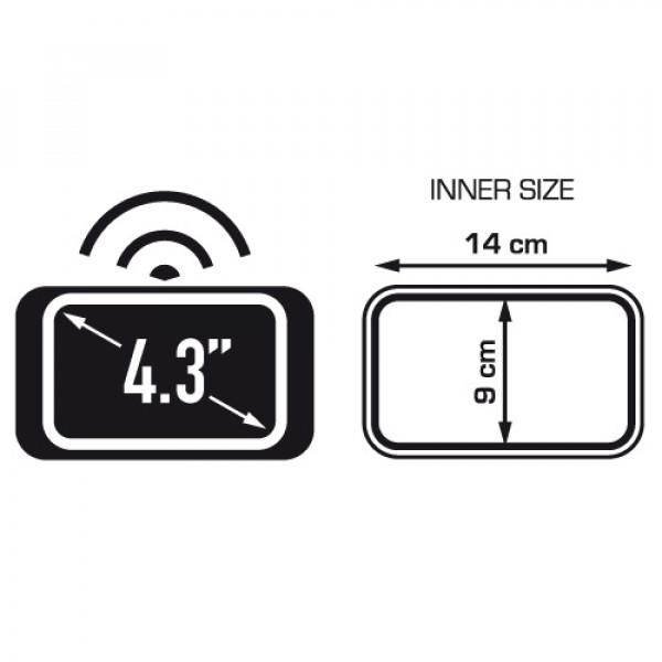 Porta smartphone o navigatore da manubrio Kappa per schermi fino a 4,3 pollici