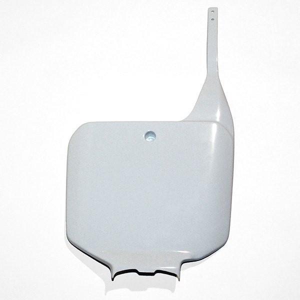 Portanumero anteriore Ufo per Honda Bianco