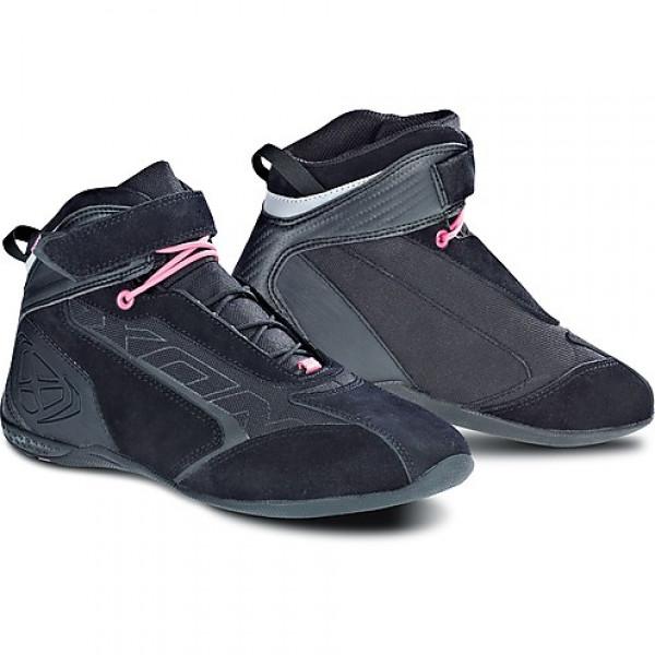 Scarpe moto donna Ixon Speeder Lady nero rosa
