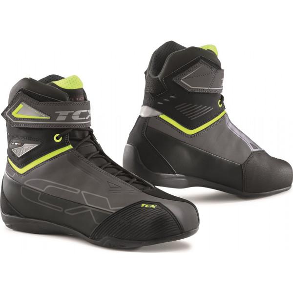 Scarpe moto TCX RUSH 2 WP Grigio Giallo Fluo