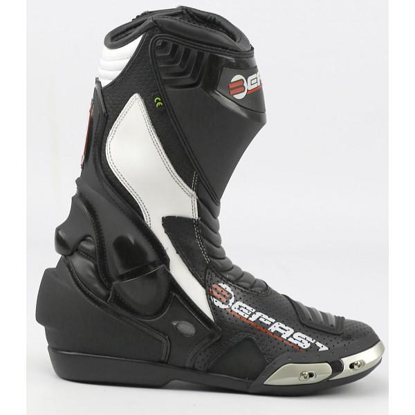 Stivali moto racing Befast Ride nero bianco