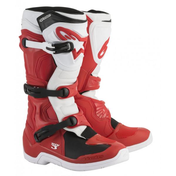 Stivali cross Alpinestars Tech 3 rosso bianco