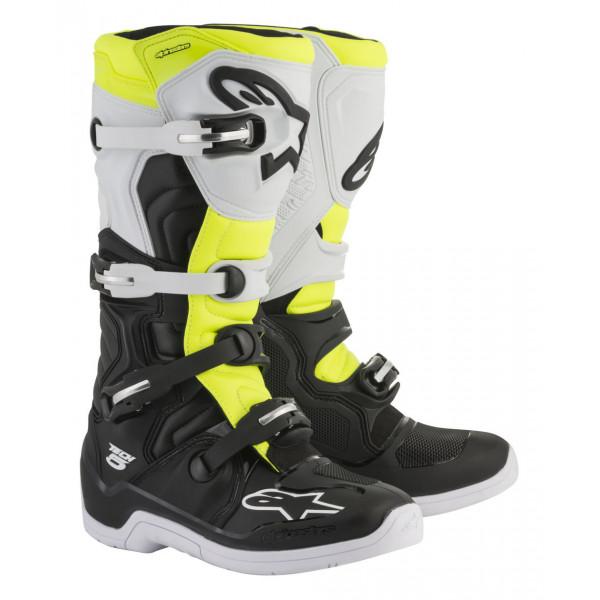 Stivali cross Alpinestars Tech 5 nero bianco giallo fluo