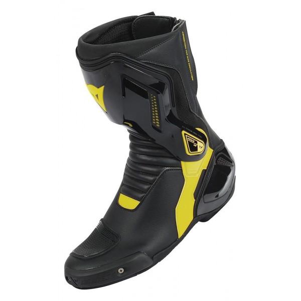 Stivali moto racing Dainese Nexus nero giallo fluo