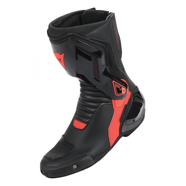 Stivali moto racing Dainese Nexus nero rosso fluo