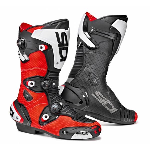 Stivali racing Sidi Mag-1 Air rosso fluo nero