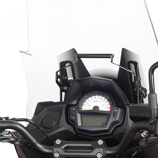 Supporto portanavigatore e smartphone Kappa per Kawasaki Versys 650 15-17