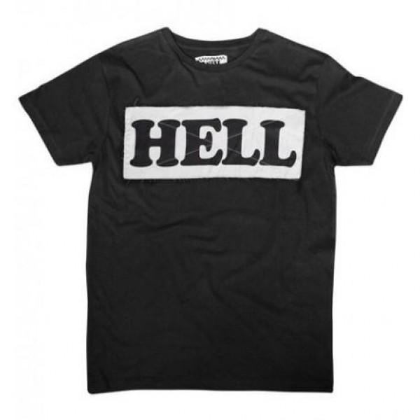 T-shirt ANVIL MOTOCICLETTE HELL Nero