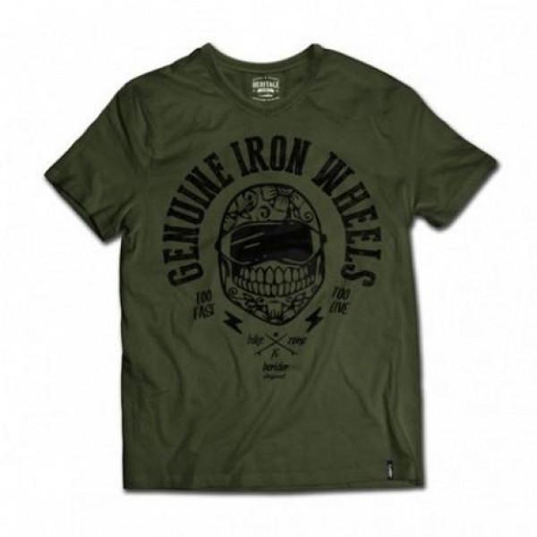 T-shirt Berider Genuine Iron Wheel verde