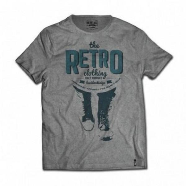 T-shirt Berider The Retro Clothing grigio