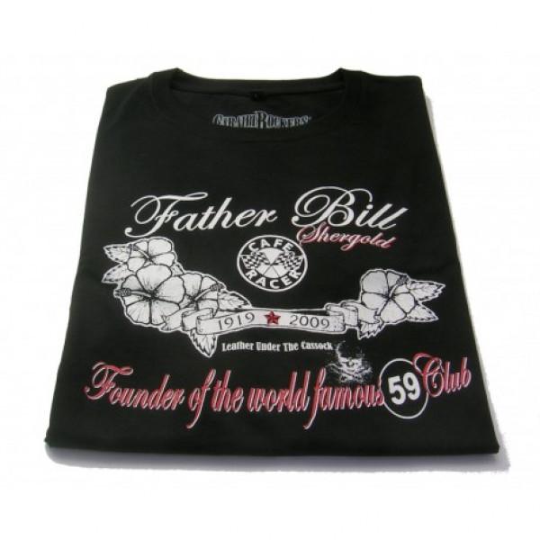 T-shirt CaraibiRockers Father Bill nero