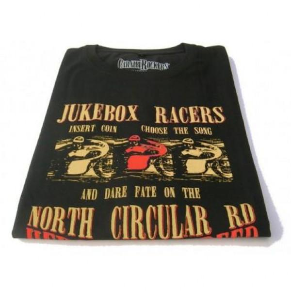 T-shirt CaraibiRockers Juke Box Racers nero