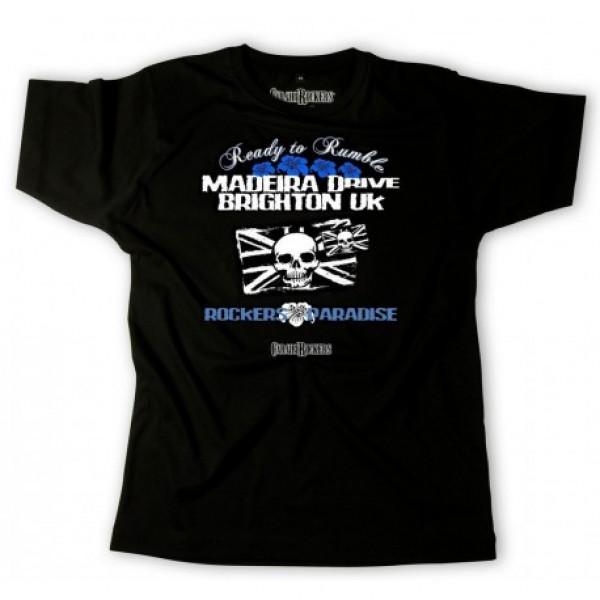 T-shirt CaraibiRockers Madeira Drive nero