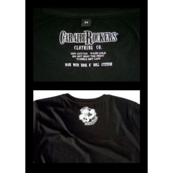 T-shirt CaraibiRockers Rock N Roll Rebel nero