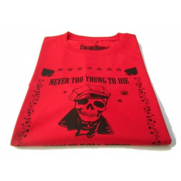 T-shirt CaraibiRockers Rock N Roll Rebel rosso