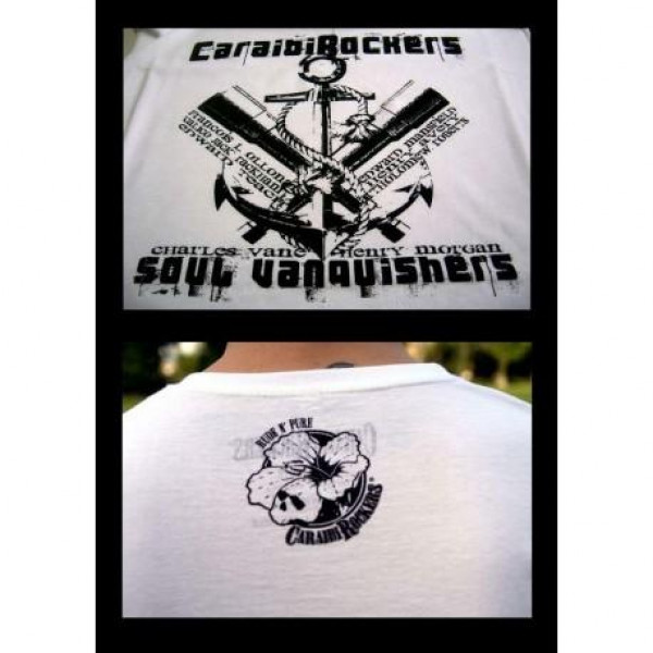 T-shirt CaraibiRockers Soul Vanquirish bianco