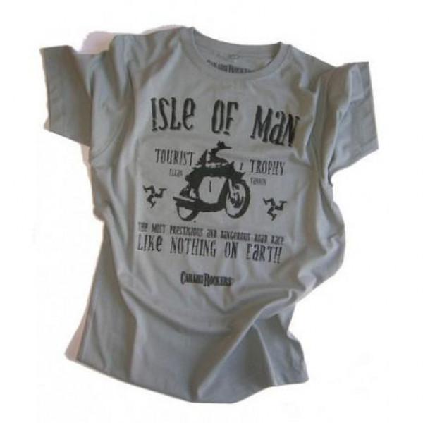 T-shirt CaraibiRockers Tourist Trophy Isle Of Man grigio nero