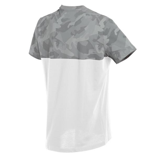 T-shirt Dainese CAMO-TRACKS Bianco Antracite