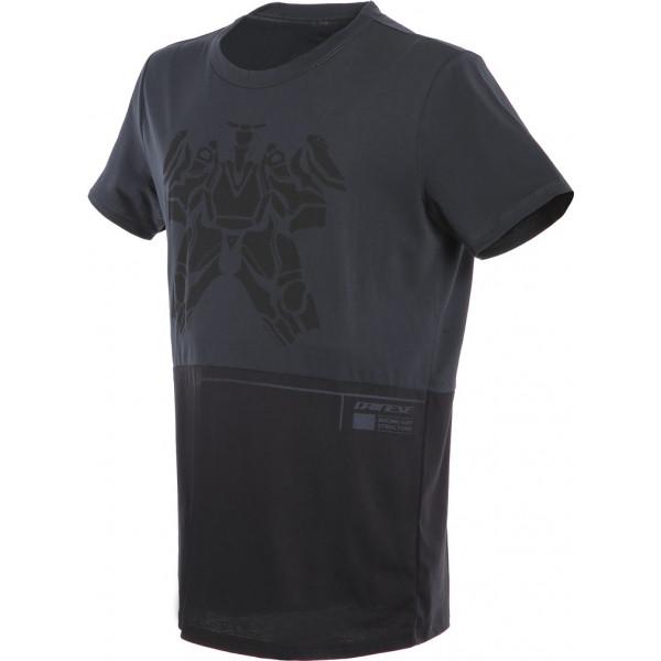 T-shirt Dainese LAGUNA SECA Antracite Nero