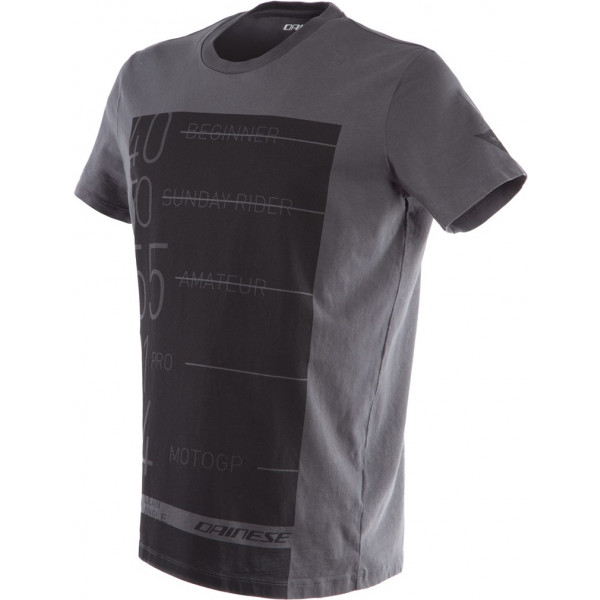 T-Shirt Dainese LEAN-ANGLE Antracite