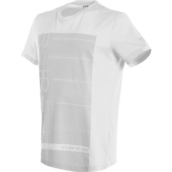 T-Shirt Dainese LEAN-ANGLE Bianco