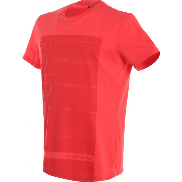 T-Shirt Dainese LEAN-ANGLE Rosso