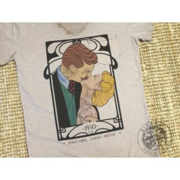 T-shirt Donkey Swing Kiss fango