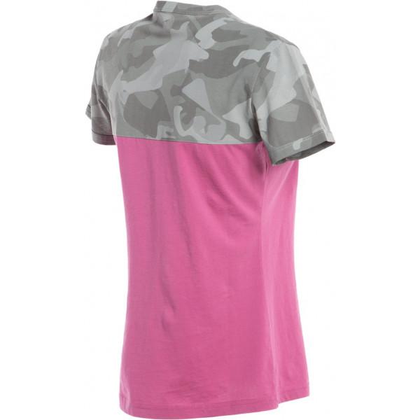 T-shirt donna Dainese CAMO-TRACKS LADY Fucsia Camo