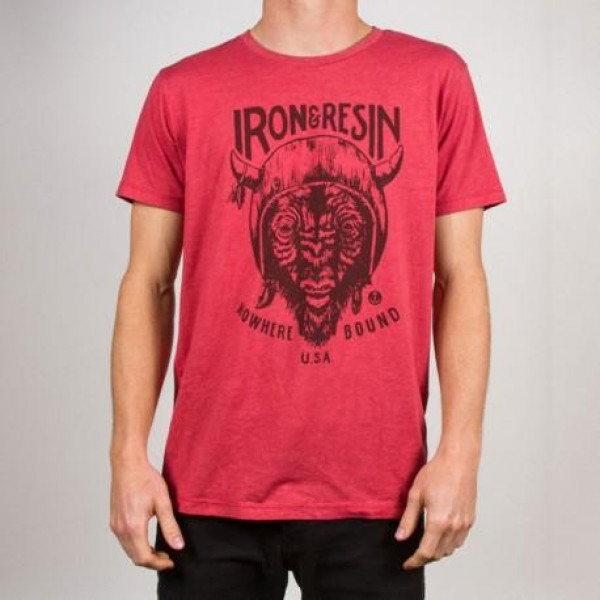 T-shirt Iron e Resin Paso rosso