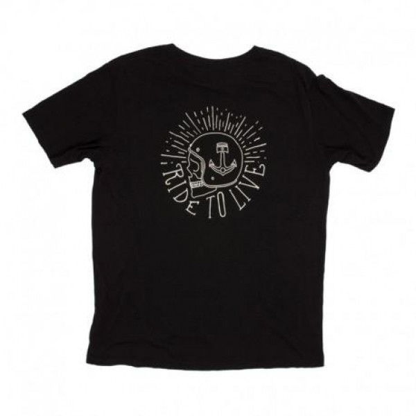 T-Shirt Iron e Resin Ride To Live nero