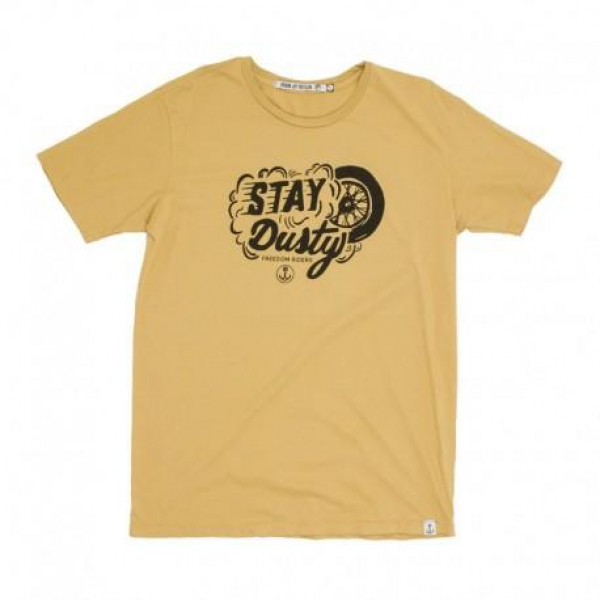 T-Shirt Iron e Resin Stay Dusty giallo segale