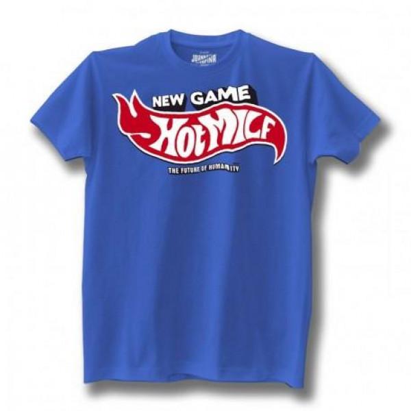 T-shirt Johnny Rapina Hot Milf azzurro