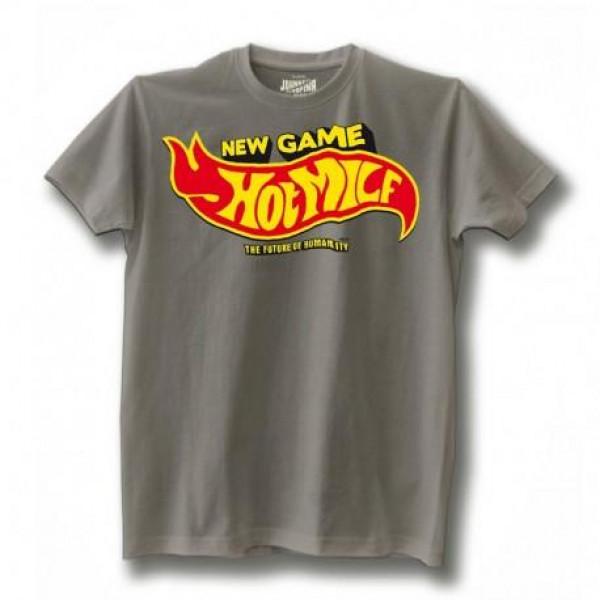 T-shirt Johnny Rapina Hot Milf grigio