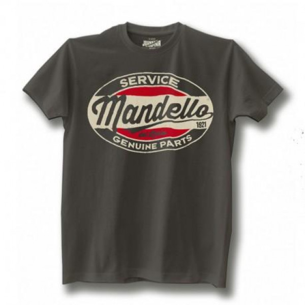 T-shirt Johnny Rapina Mandello Genuine Parts grigio