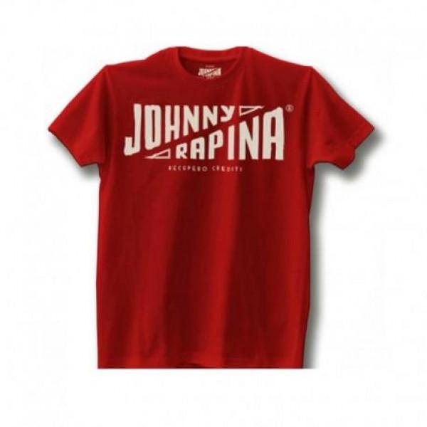 T-shirt Johnny Rapina Recupero Crediti Rosso
