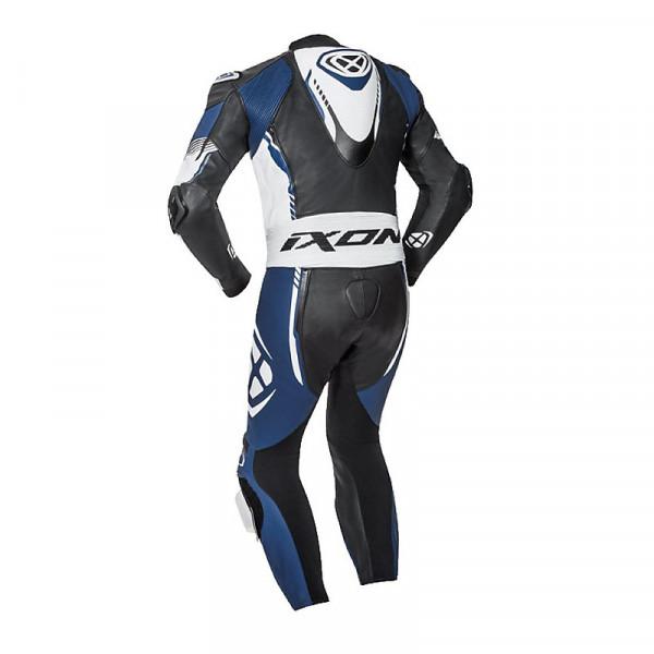 Tuta moto pelle estiva Ixon VORTEX 2 Nero Bianco Blu