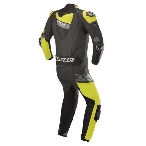 Tuta moto pelle intera Alpinestars GP PLUS VENOM nero giallo fluo grigio