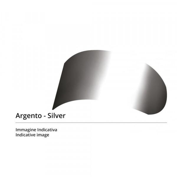 Visiera Race X antigraffio iride argento per caschi Agv