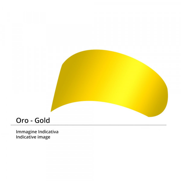 Visiera Street 5 antigraffio iride oro per caschi Agv