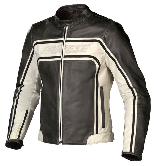 check out 49623 f9489 Giacca moto pelle Dainese Tourage Vintage nero-ghiaccio