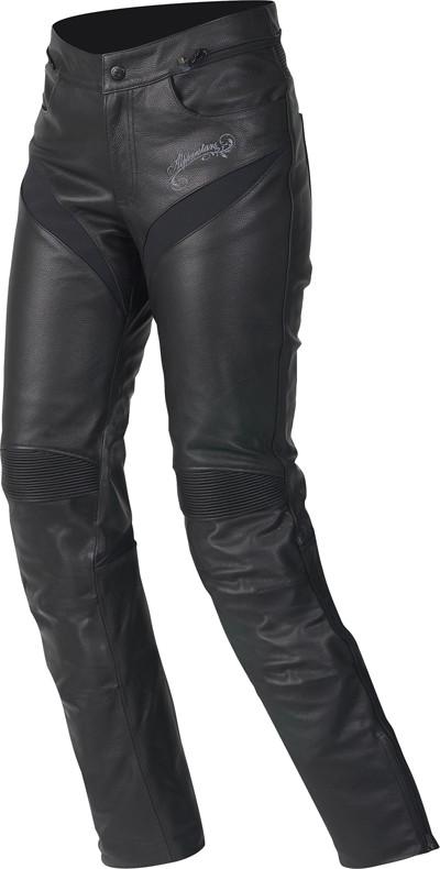 5e5b081033c4b8 Pantaloni moto donna pelle Alpinestars Stella Tyla neri