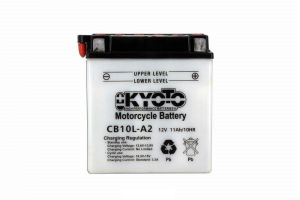 Batteria moto Kyoto Yb10l-a2 X4 - 12v 11ah - L 136mm W 91mm H 146mm - con acido