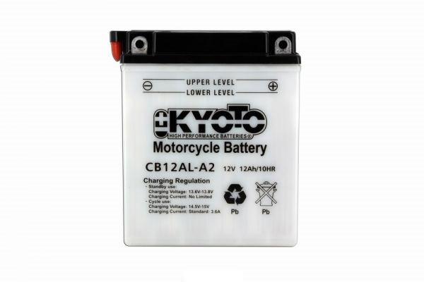 Batteria moto Kyoto Yb12al-a2 X4 - 12v 12ah - L 135mm W 81mm H 161mm - con acido