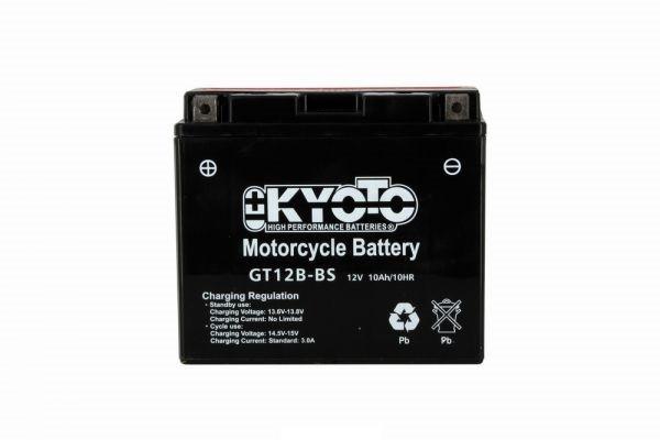 Batteria moto Kyoto Yt12b-bs X4- 12v 11ah -  L 150mm W 70mm H 131mm- con acido senza manutenzione
