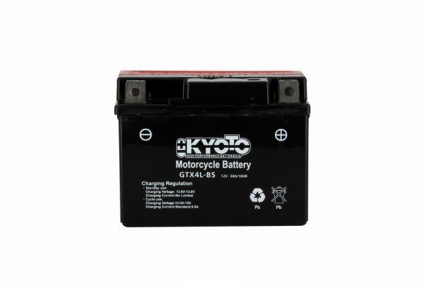 Batteria moto Kyoto Ytx4l-bs X8 - 12v 3ah - L 114mm W 71mm H 86mm - con acido senza manutenzione