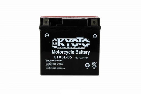 Batteria moto Kyoto Ytx5l-bs X8- 12v 4ah - L 114mm W 71mm H 106mm - con acido senza manutenzione